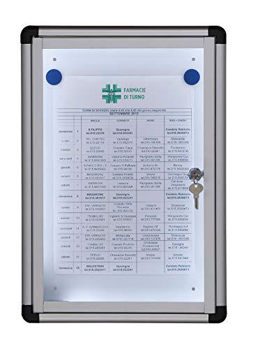 IPS 530L Tablero de puerta batiente marco de aluminio con cerradura y llaves iluminado LED 60 led/mt...