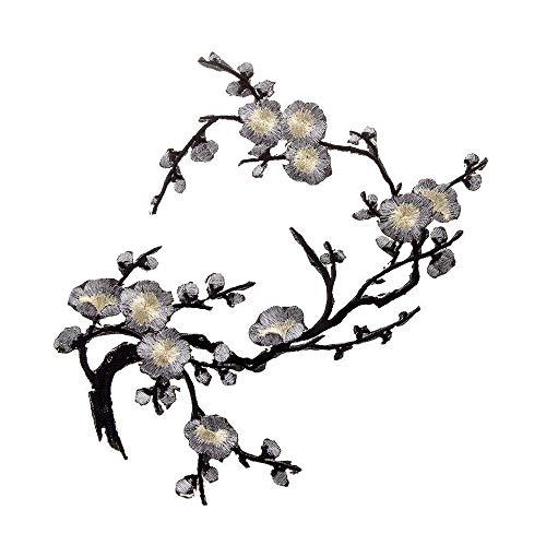 Goodplan Plum - Parche Bordado con Flor, para Coser en el Cuello