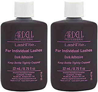 Ardell Lashtite Adhesive, Dark, 0.75 fl.oz. Bottle (2-Pack)
