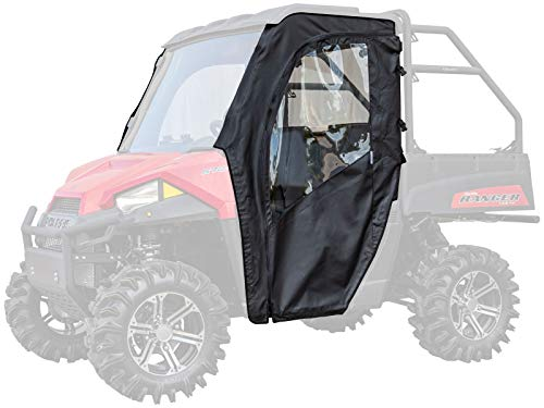 SuperATV Soft Cab Doors for 2015+ Polaris Ranger MIDSIZE 500/570 / EV/ETX (See Fitment) | 2 Soft...