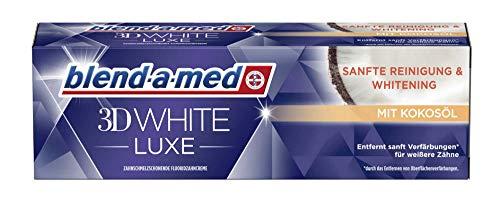 Blend a Med 3D White Luxe Zahncreme mit Kokosöl, Sanfte Reinigung & Whitening, 1 x 75 ml