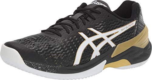 ASICS Men's Sky Elite FF Volleyball Shoes, 10M, Black/White