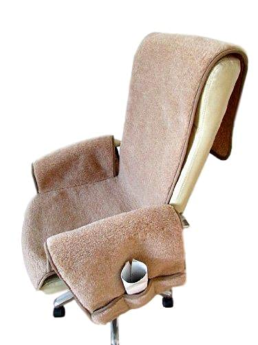 Alpenwolle Sesselschoner Alpaca Anti-Rutsch Stoff mit Taschen Sesselauflage Überwurf Made in Germany