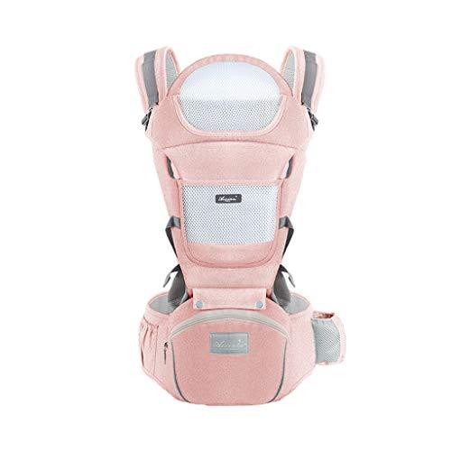 Multifonctionnel Porte-bébé Siège arrière Sac à Dos pour bébé 0-36 Mois Coton Polyester Stockage Quatre Saisons Universel ( Color : B )