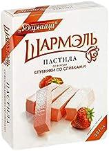 "RUSSIAN PASTILA ""SHARMEL"" Strawberry with Cream 221 g Пастила клубника со сливками Ударница ""Шармэль"""