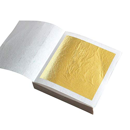 3.5x3.5 inch Du/šial 100 pcs Imitation Gold Flakes Leaf Gold Leaf Gilding Foil Imitation Gold for Painting Arts Crafts DIY Decoration