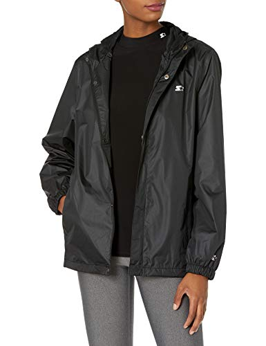 Starter Women's Standard Waterproof Breathable Jacket, Black, Small