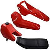 munirater Fairing Plastic Seat Gas Tank Kit Body Rear Fender Assembly Kit Replacement for Yamaha PW80 PW 80 Peewee 80 Dirt Bike