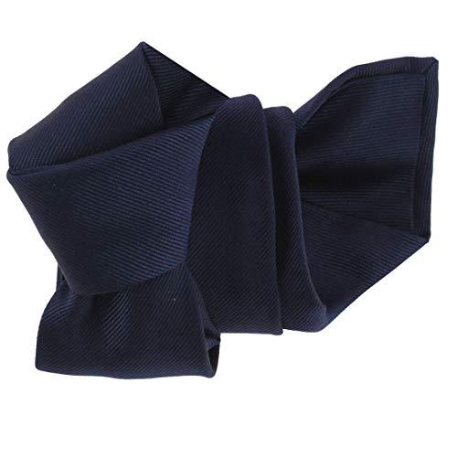 Tony & Paul. Cravate Italienne. Confection main, Soie. Bleu, Uni. Fabriqué en Italie.