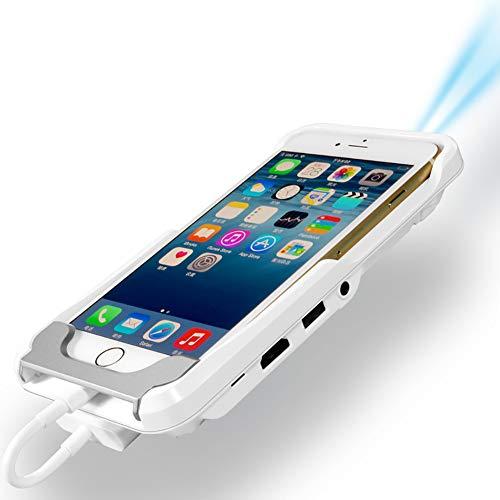 ZUKN Mini teléfono proyector TV Mini WiFi portátil LED Smart HD Video 1080P HDMI para iPad iPhone 6 7 8 X Plus Blanco