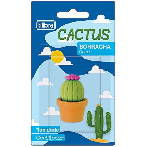 Borracha Cactus, Tilibra, 1 Unidade, Formato Sortido