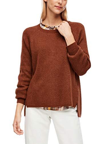 s.Oliver Damen 120.10.009.17.170.2042241 Pullover, Brown Knit, 40