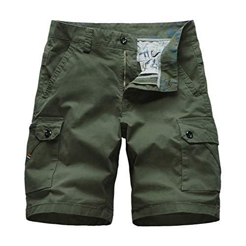 Makalon heren cargo-broek, grote maat, sportbroek, heren, grote maat, werkbroek, voor mannen, slim, herenbroek, vrijetijdsbroek, regular fit (legergroen, 32)