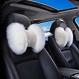 XLTWKK Bao Car headrest Neck Pillow Warm and Soft Fur Car Bone Seat by Pillow Support Pad Car Neck Pillow