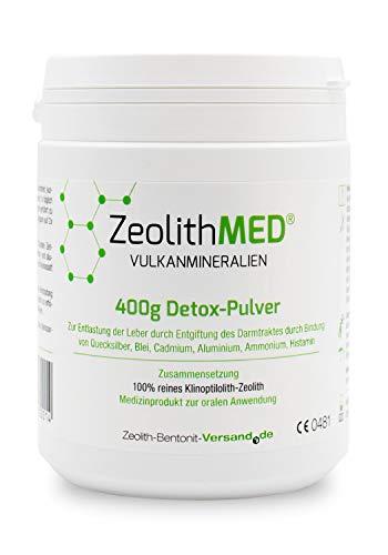 Zeolith MED Detox-Pulver 400g, CE zertifiziertes Medizinprodukt