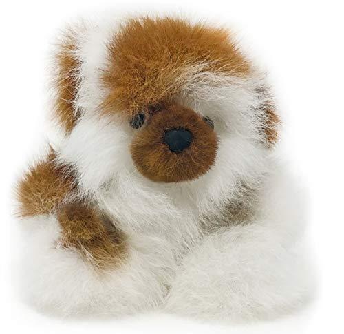 Inca Fashions • 100% Baby Alpaca Fur Puff-Ball Teddy Bear • Sitting Position • Hand Made • 5+ Inch • Each Bear is Unique • (Mixed Multi)