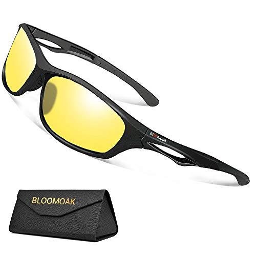 Nachtsichtbrille zum Autofahren - Nachtfahrbrille mit Polarisierte Gläser filtern Blendende Blendung durch Scheinwerfer / TR90 Bruchsicherer Rahmen/UV 400 Schutz - zum Radfahren Laufen