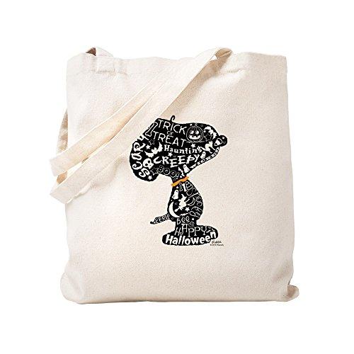 CafePress Halloween Snoopy Tragetasche, canvas, khaki, S