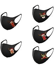 goodjinHH 5/10/25 stuks Kerst Herbruikbare Mondkapjes | kerstdag ademend stofdicht Wasbare Mondmasker | 2020 Christmas Outdoor masker voor volwassenen
