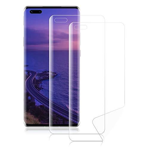 ROVLAK Schutzfolie für Huawei Mate 40 Pro Screen Protector [2-Pack] Soft Hydrogel Folie HD Klarsicht Anti-Kratzer Vollflächiger Displayschutz Flexible Schutzfolie für Huawei Mate 40 Pro Smartphone