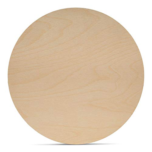 Wood Plywood Circles 18 inch, 1/8 Inch Thick, Round Wood Cutouts, Pack of 1 Baltic Birch Unfinished Wood Plywood Circles for Crafts, by Woodpeckers