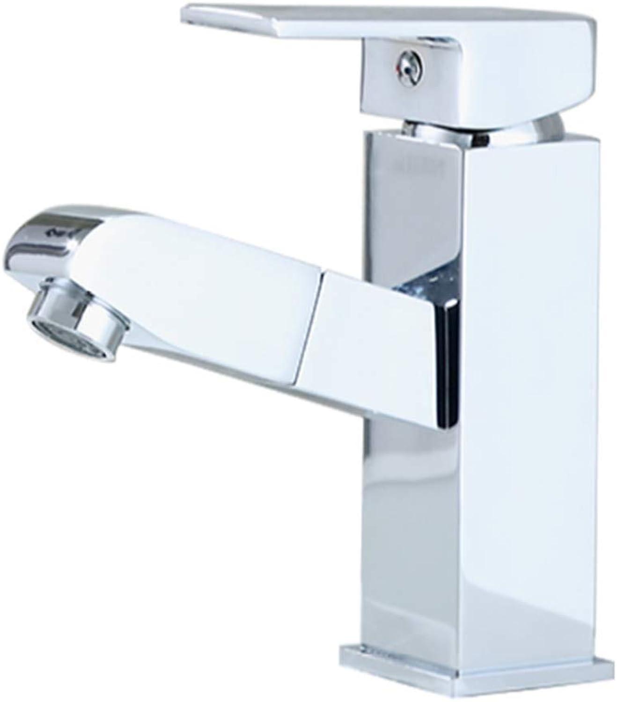 CTREKE Becken Wasserhahn Spüle Mischer Bad Wasserhahn drehen hei und kalt A