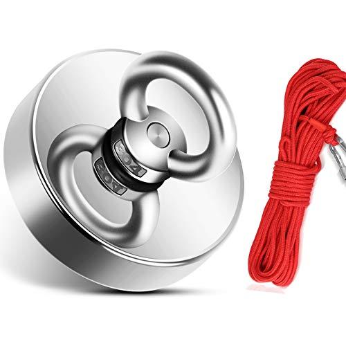 150 kg de fuerza magnética de neodimio con cuerda (20 m /...