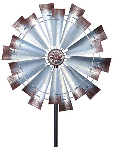 MUMTOP Wind Spinner Retro Large Two-Way Wind Sculptures for Enjoy a Visual Feast in Courtyard Garden Decoration