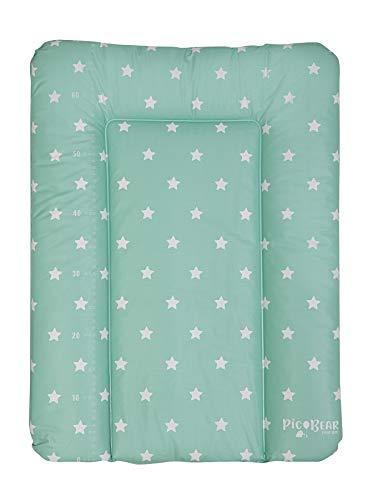Wickelauflage HONEY | weiche Wickelunterlage | Öko-Tex 100 | abwaschbar und pflegeleicht (50 x 70 cm, Sterne celadon)