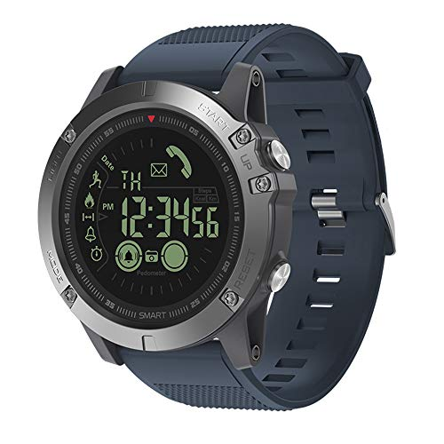New Zeblaze Vibe 3 Flagship Rugged Smartwatch 33-Month Standby Time 24h All-Weather Monitoring Smart Watch for iOS and Android (Blue)