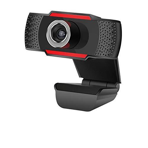 Webcam mit Mikrofon, 1080p HD Webcam, USB Webcam für PC Computer Desktop Laptop MacBook, Web-Kamera mit Licht für Skype, Live Streaming, Videochat, Online Besprechungen