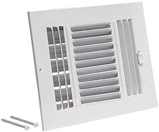 EZ-FLO 61615 Three-Way Sidewall/Ceiling Register, 12