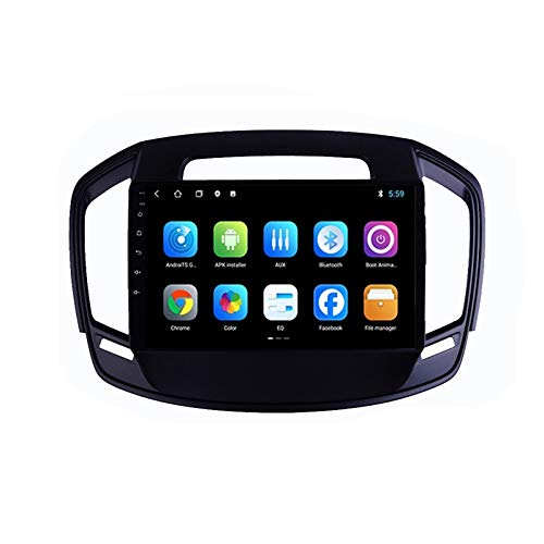 2 DIN Car Stereo 9 Pulgadas HD Pantalla Táctil Soporte Llamadas Manos Libres/BT/Navegación GPS/Cámara De Visión Trasera/FM, para Opel Insignia 2014-2016 Radio De Coche,Quad Core,4G WiFi 1+32