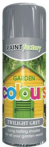 Twilight Grey Spray Garden Shades Paint for All Garden Wood - HLU 400ML