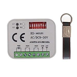 RX-Multi-Receptor-Universal-2-Canales-Radio-Receptor-para-Faac-Nice-BFT-Came-Multimarca-433-868-MHz-Cdigo-Fijo-Y-Rolling-Code-Autoaprendizaje-Automatizacin-Puerta-de-Garaje-12-30V-AC-DC