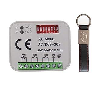 RX Multi Receptor Universal 2 Canales Radio Receptor para Multimarca 433-868 MHz Código Fijo Y Rolling Code Autoaprendizaje Automatización Puerta de Garaje 12-30V AC DC