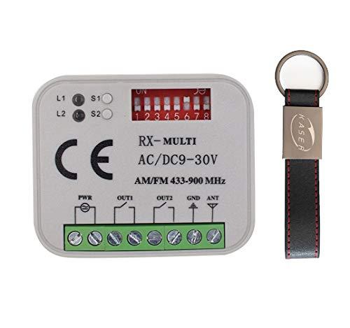 RX Multi Universal Empfänger 2 Kanäle Funkempfänger für FAAC Nice BFT Came für Multi-Brand Frequenz 433 oder 868 MHz Festcode Rolling Code Automatisierung AC DC 12V - 30V