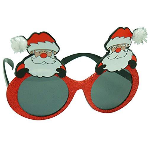 Diabolical gifts- Lunettes de Père Noël Amusantes, DP0927, Blanc