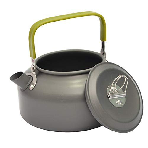 WNTHBJ Amping Picknick Vissen Ketel 0.8L, Outdoor Draagbare Aluminium Koffiepot, CPot Campground Kettle Draagbare Rugzak Wandelen Picknick Vissen Wandelen