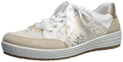 ARA Women's Nicole Sneaker, White/Taupe Pixel, 7.5 M US