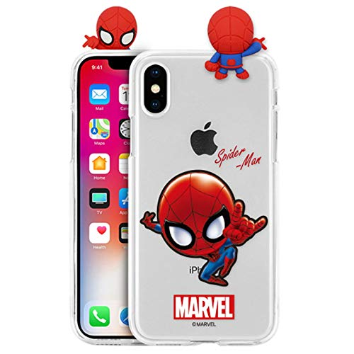 New Figure Clear Jelly Case with Avengers Character for Apple iPhone 11 (Spider Man)