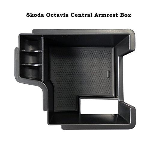 LFOTPP Octavia III 5E (2013-2019) Handschuhfach Armlehne Aufbewahrungsbox Center Console Armrest Storage Box Innen Schwarz