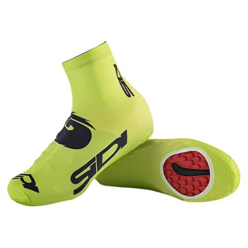Hamkaw Copriscarpe Invernali Antivento Protezione Calda per Uomo e Donna, per Escursionismo, Corsa, Ciclismo, Mountain Bike, previene la Sabbia, Green, 42-43(US10-11)