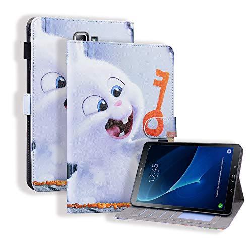 WHWOLF Adecuado para Samsung Galaxy Tab A6 10.1 pulgadas 2016 Funda (SM-T580/T585) Tablet Wallet Flip Stand Cover Shell protectora a prueba de golpes con cierre magnético para tarjetas -sl73
