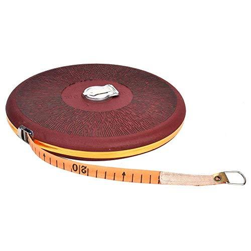 Hilitand, Cinta métrica retráctil para medir a mano, hecha de tela, anticaídas, ideal para construir o renovar, 20, 50 o 100 metros