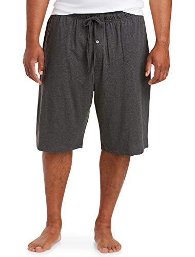 Amazon Essentials Men's Knit Pajama Short Shorts, -Charcoal, 3XL