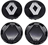 4 tapas de cubo de centro de coche para Renault Clio 4 Megane 2 3 Laguna Dust Catcher Fluence Kadjar Espace, 57 mm centro de rueda logo insignia pegatina estilo de neumático