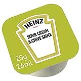 HEINZ 1 caja de 100 unidades Salsa de Cebollino Dip Pot 25g