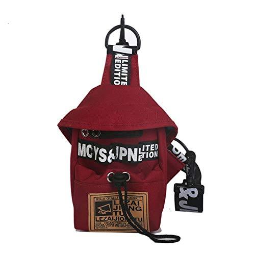Riñonera multifunción para mujer, bolsa de cintura para mujer, de lona, para teléfono, pequeña y pequeña Rojo Rojo
