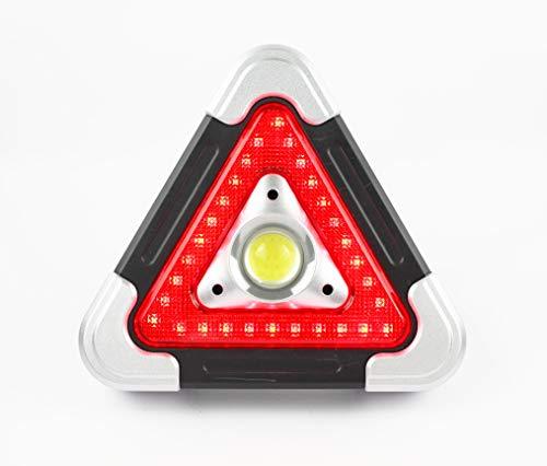 Triángulo Coche señal de Advertencia Luz de Emergencia Proyector Reflector lámpara de Camping Externa Portátil Multifuncional de Carga Solar Led Luz de Trabajo